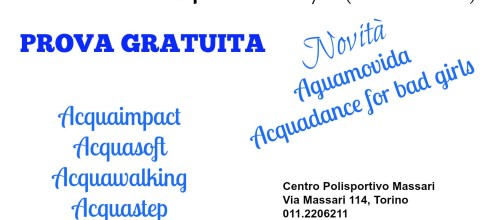 OPEN DAY ACQUAFITNESS 26 SETTEMBRE 2015