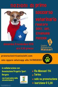 nozioni di primo soccorso veterinario