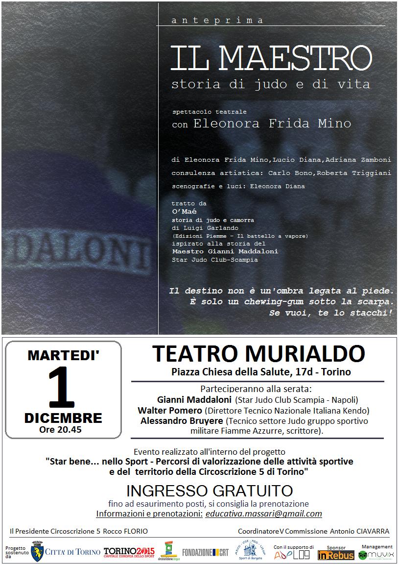 Locandina spettacolo IL MAESTRO Teatro Don Murialdo