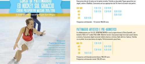 Volantino corsi pattinaggio 2° turno 2015-16