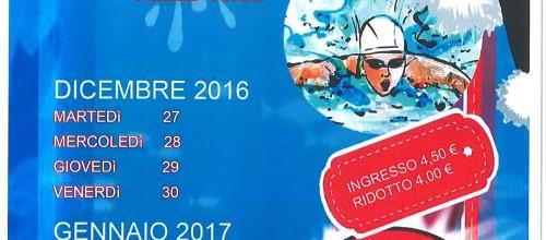 SPECIALE NUOTO A NATALE 2016…il nuoto libero non si ferma…