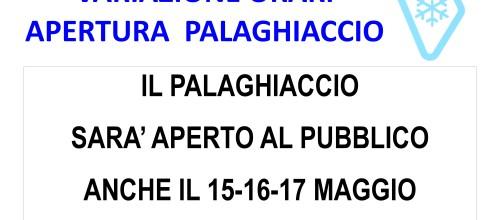 APERTURA PALAGHIACCIO