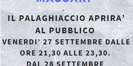 APERTURA AL PUBBLICO PALAGHIACCIO