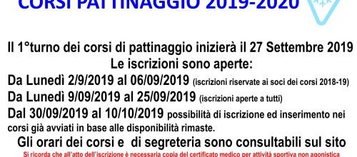 CORSI PATTINAGGIO 2019-2020