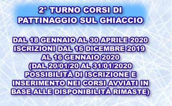 2° turno corsi pattinaggio 2019-2020