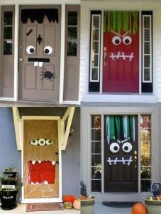 Decorazione di halloween per porte