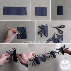 ghirlanda di ragni di carta
