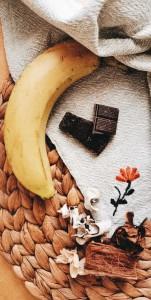 spuntino banana cioccolato